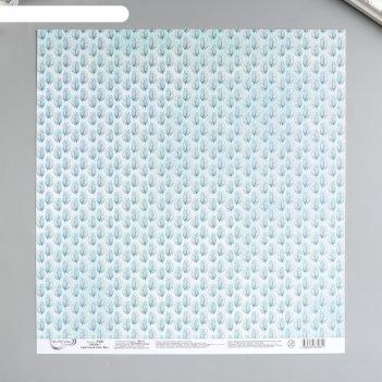 Бумага для скрапбукинга mr.painter 30.5x30.5 см цветочный атлас. мак №1 19