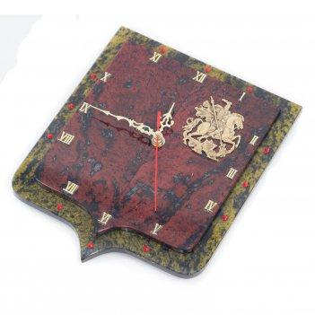 Настенные часы герб бронза змеевик