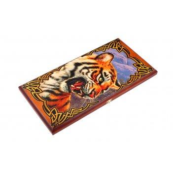 Нарды большие  тигр 60*30*3,5 см.
