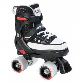 Роликовые коньки hudora rollschuh roller skate, цвет черный, 36-39
