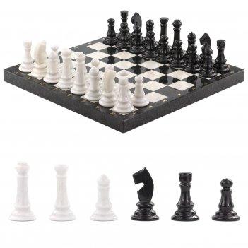 Шахматы мрамор змеевик 440х440 мм 12000 гр.