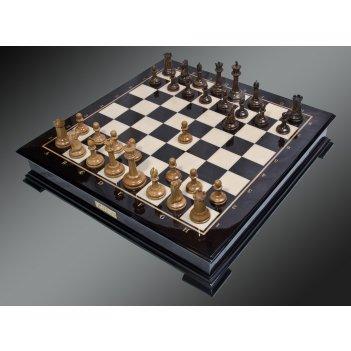 Шахматы стаунтон от карпова светлый дуб - мореный дуб