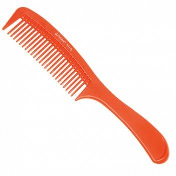 Расческа с ручкой dewal beauty оранжевая  22,0 см