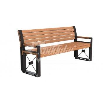 Скамейка стальная «софия» с подлокотниками 2,0 м (3 опоры)