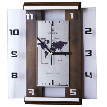 Настенные часы с-04 темный орех 310х270х40 мм