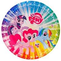 Набор тарелок my little pony 18 см, 6 штук