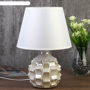 Лампа настольная 7555100tl/1 e14 40вт жемчужный 22х22х32 см