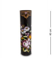 Vz-567 ваза стеклянная жостово h-400/100 (цилиндр)