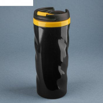 Термостакан волны черно-желтый 350 мл
