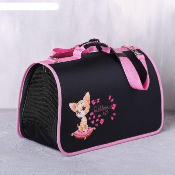 Сумка-переноска раскладная glamorous bag 45x27x20 см