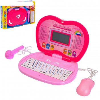 Компьютер детский, обучающий с микрофоном русский,английский язык, 30 функ