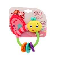 Развивающая игрушка-погремушка «розовая бабочка» 9208
