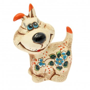 Статуэтка собака дружок, шамот, микс