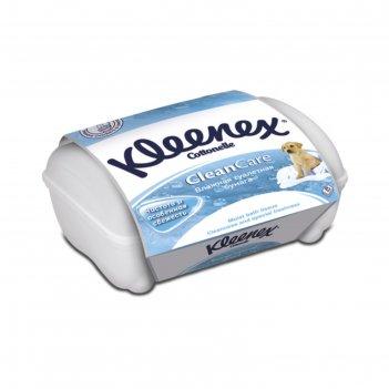 Влажная туалетная бумага kleenex cottonelle clean care, 42 шт.