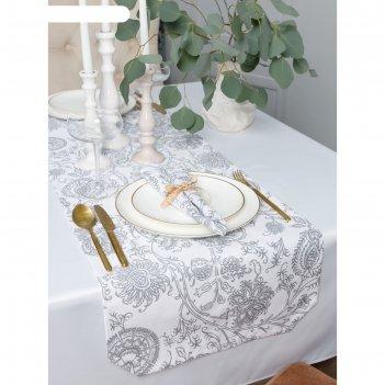 Дорожка на стол «белое золото», размер 40 x 140 см
