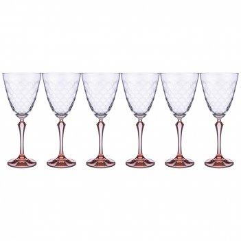 Набор бокалов для вина elisabeth brown smoke из 6 шт. 350 мл. высота=23,5