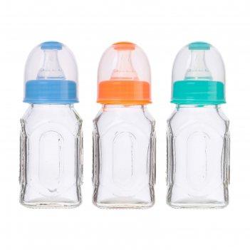 Бутылочка для кормления,стекло,цвет микс