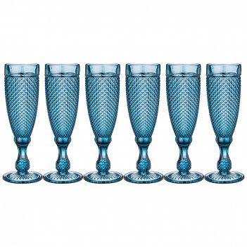 Набор бокалов для шампанского гранат из 6шт. серия muza color 200мл. / в=2