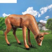 Садовая фигура олениха пасущаяся, 23 см