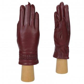 Перчатки женские натуральная кожа (размер 7.5) бордовый