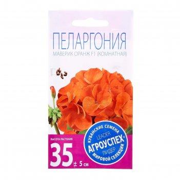 Семена комнатных цветов пеларгония маверик оранж 4 шт