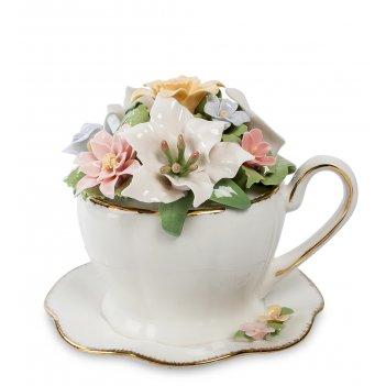 Cms-33/11 муз. композиция чашка с цветами (pavone)