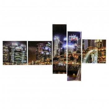 Модульная картина на подрамнике ночной город
