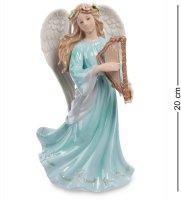 Cms-24/ 5 муз. статуэтка ангел с арфой (pavone)