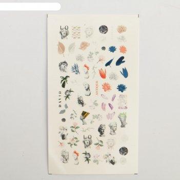 Наклейки для ногтей античность 5,2 x 10 см