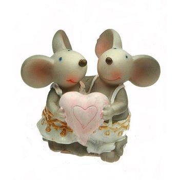 Фигурка декоративная мышка 6*10*8см (уп.4/72шт.)