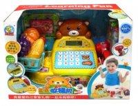 Касса медвежонок, свет, звук, аксеес., батарейки не входят в комп.