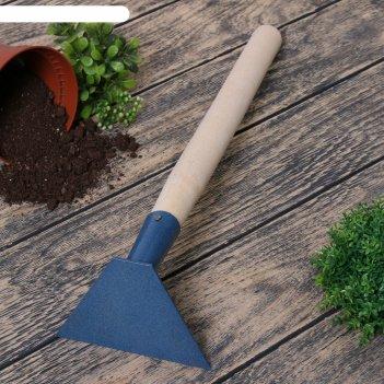 Мотыжка прямая, длина 42 см, деревянная ручка