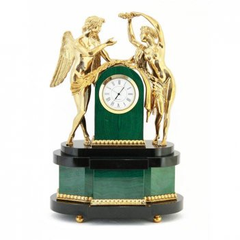 Часы амур и психея камень малахит