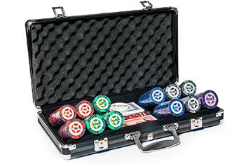 Профессиональный набор для покера pokerstars 300 фишек 14 гр