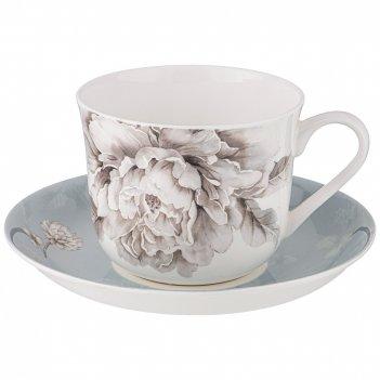 Чайная пара lefard white flower 2 пр. 500 мл голубая