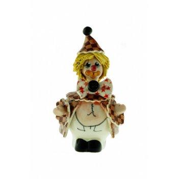 30045 клоун в красно-белом h8 cm