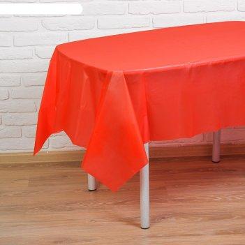 Скатерть праздничный стол, цвет: красный, 137х183