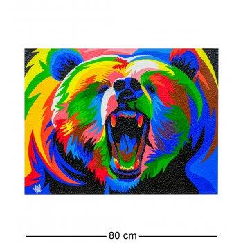 Art-524 картина радужный медведь