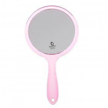 Зеркало с ручкой пластик круг 2-х стор с увел d14,5*26,5см микс пакет