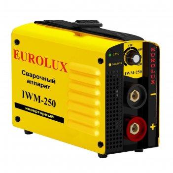 Сварочный аппарат инверторный eurolux iwm250, 220 в, 10-250 а, ip21, дуга