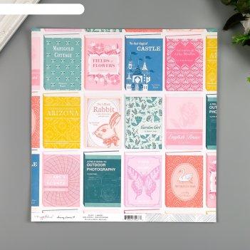 Бумага для скрапбукинга crate paper library 30.5х30.5 см, 190 гр/м2
