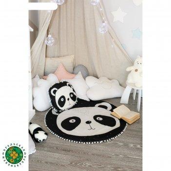 Набор крошка я панда плед 90х90 см и подушка 55х45 см