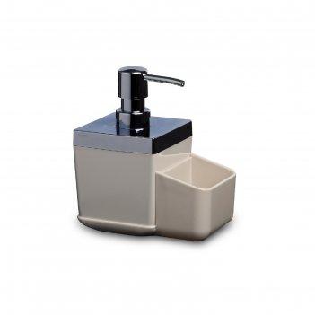 Дозатор с губкой для кухни toskana, цвет бежевый