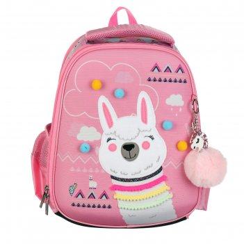 Рюкзак каркасный hatber ergonomic plus 38 х 29 х 6, для девочки альпака, р