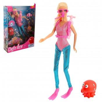 Кукла модель аквалангистка с аксессуарами, микс