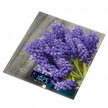 Весы кухонные лаванда hottek ht-962-032 18*20см, макс.вес 7кг (кор=12шт.)