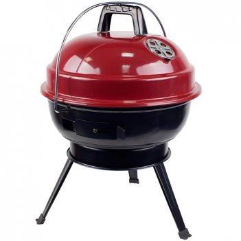 Компактный переносной угольный гриль-барбекю picnic 37