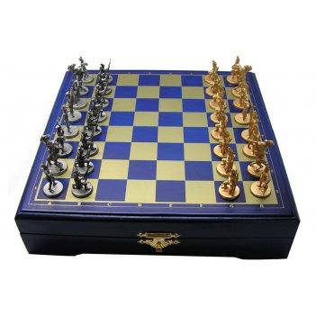 Оловянные мини шахматы бородинская битва 22х22см
