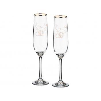 Набор бокалов для шампанского из 2 шт. 190 мл.высота=24 см.