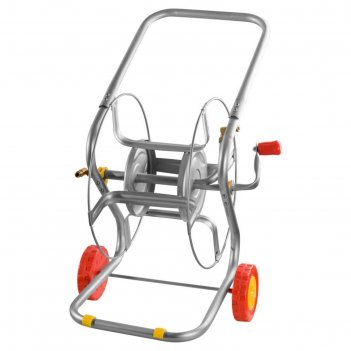 Катушка для шланга, 100 м, металлическая, на колёсах, grinda